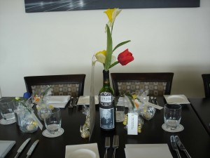 wine bottle centerpiece