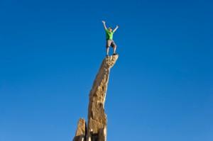 Man on the summit.