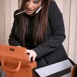 Multi Tasking - Busy Businesswoman