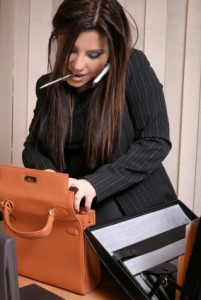 Multi Tasking - Busy Businesswoman