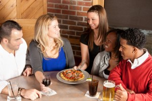Real People: Young Adult Couples Night Out Bar Restaurant