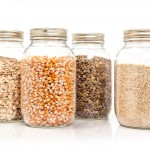 Mason Jars filled with dried grains
